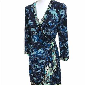 BCBG MaxAzria floral multi wrap dress.  GUC